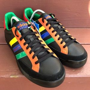 Adidas Nastase Leather Black Retro Rasta Style